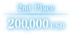 2nd Place 200,000USD